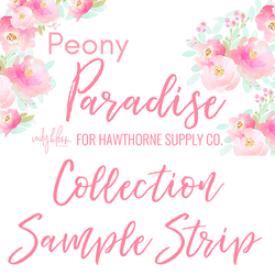 Peony Paradise Sample Strip