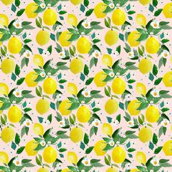 Small Lemons in Sunrise Pink