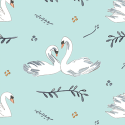 Royal Swans in Mint