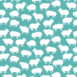 Sheep Silhouette in Seafoam