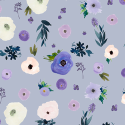 Drifting Blooms in Lilac