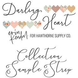 Darling Heart Sample Strip
