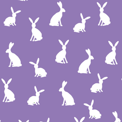 Cottontail Silhouette in Amethyst