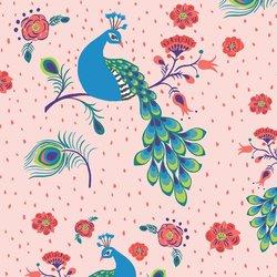 Pretty Peacock in Blossom