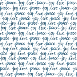 Love Peace and Joy in Blue Reflection