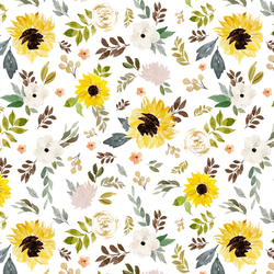 Free Falling Floral in Sunflower