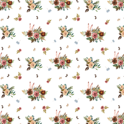 Small Fall Floral in White