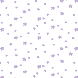 Star Light in Lilac on White