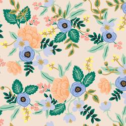 Primavera Rifle Paper Co fabric Citrus Floral Teal rp300te3 Green Orange Yellow floral