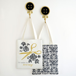 The Sewer Tote Panel in Onyx and Gold