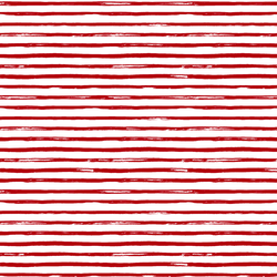 Small Watercolor Stripes in Holly Red