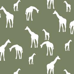 Giraffe Silhouette in Olive