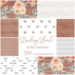 Darling Heart Fat Quarter Bundle in Hot Chocolate