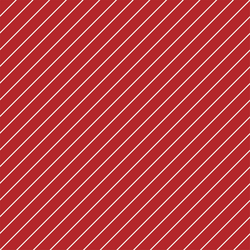 Tinsel Stripe in Christmas Red