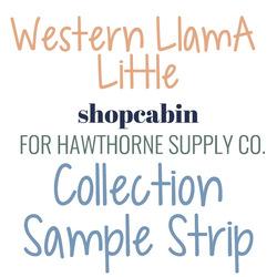 Western Llama Sample Strip Little