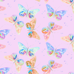 Butterflies in Bright Orchid