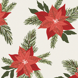 Large Poinsettia in Christmas Red