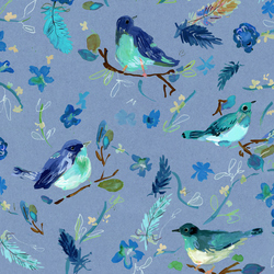 Romantic Birds in Multi