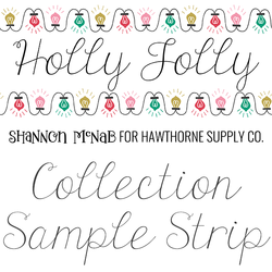 Holly Jolly Sample Strip