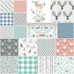 Winter Fawn Fat Quarter Bundle