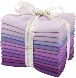 Kona Solid Fat Quarter Bundle in Lavender Fields