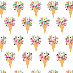 Floral Cone in Rainbow