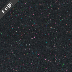 Shetland Speckle Flannel in Black