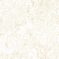 Paperie in Warm Gold on White