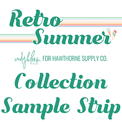 Retro Summer Sample Strip