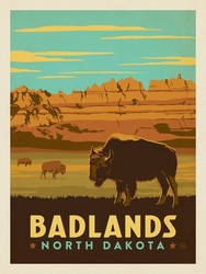 Poster Panel in Badlands