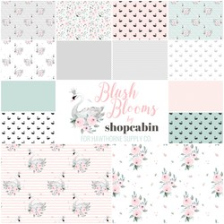 Blush Blooms Fat Quarter Bundle Small Scale