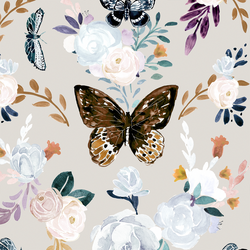 Large Butterfly Floral in Monarch