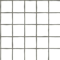 Windowpane in Greige on White