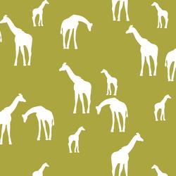 Giraffe Silhouette in Zest