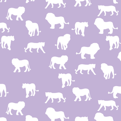 Lion Silhouette in Lilac