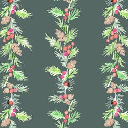 Pine Garland in Dark Spruce