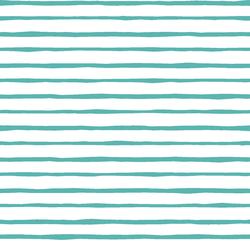 Artisan Stripe in Seafoam on White