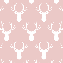 Stag Silhouette in Blush