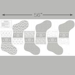Stockings Panel in Pebble
