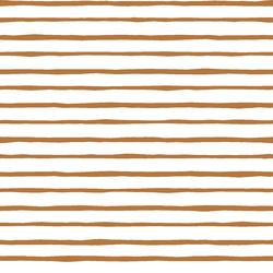 Artisan Stripe in Ginger on White