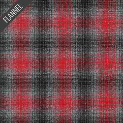 Mammoth Blurry Plaid Flannel in Platinum