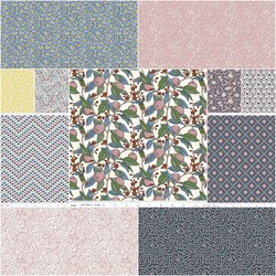 The Summer House Collection Fat Quarter Bundle in Charcoal