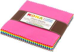 """Kona Solid 5"""" Square Pack in 2017 New Colors"""