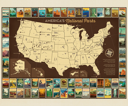 Poster Panel in USA Map