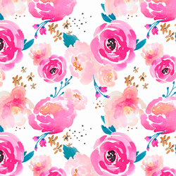Little Punchy Floral in Fuchsia