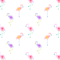 Flamingos in Neon