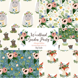 Woodland Garden Party Fat Quarter Bundle in Big Scale