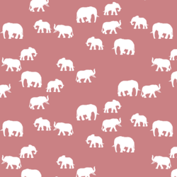 Elephant Silhouette in Berry