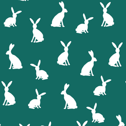 Cottontail Silhouette in Emerald