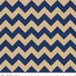 Medium Chevron in Navy and Tan